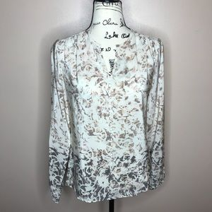 Antonio Melani covered button blouse XS